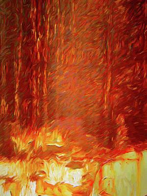 Digital Art - Forest Fire by David King