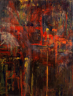 Painting - Forest Fire by Laura Warburton