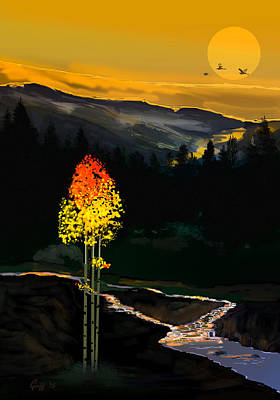 Digital Art - Forest Flame by J Griff Griffin