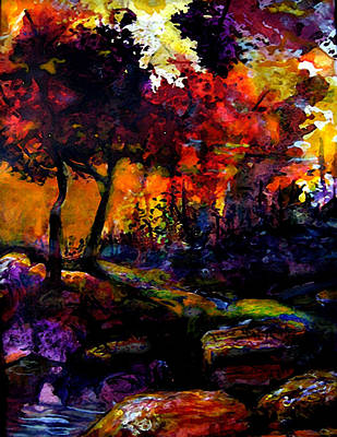 Mary Sonya Conti Painting - Forest Flames by Mary Sonya  Conti