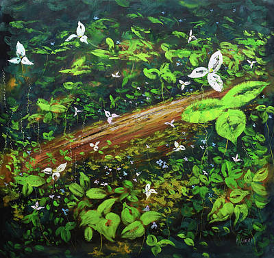 Paintings - Forest Flowers by Graham Gercken