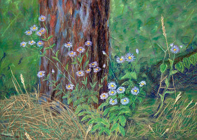 Pastel - Forest Flowers by Marina Garrison