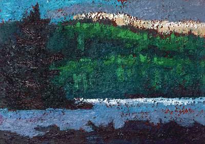 Forest Fog Robinson Lake Original