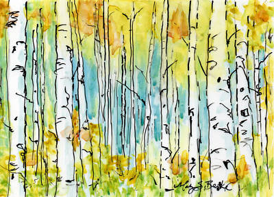 Painting - Forest For The Trees by Mary Benke