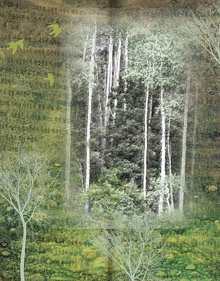Forest For The Trees Art Print by Nadine Berg