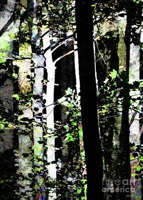 Digital Art - Forest For The Trees / Watercolor / Vertical  by Elizabeth McTaggart