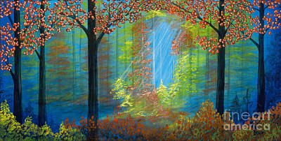 Painting - Forest Glow by Rebecca Parker