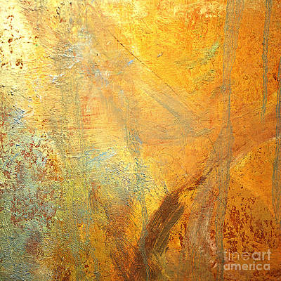 Mixed Media - Forest Gold by Michael Rock
