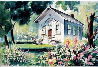 Forest Grove School House Art Print by Tamara Keiper