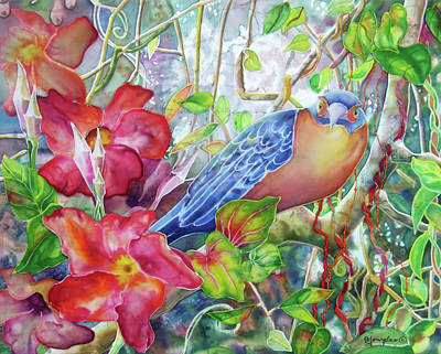 Mangrove Forest Painting - Forest Guardian by Deborah Younglao