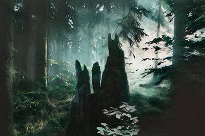 Digital Art - Forest Guardians by Lisa Yount