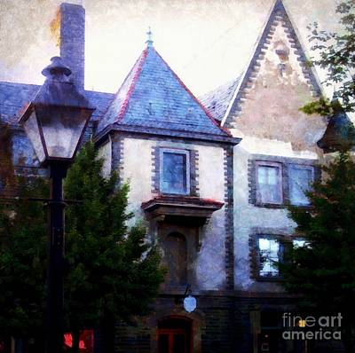 Photograph - Forest Hall Milford Pa By Lamplight by Janine Riley