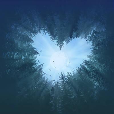 Surrealism Digital Art - Forest Heart 2 by Bekim M