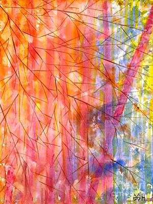 Painting - Fiery Forest  by Wonju Hulse
