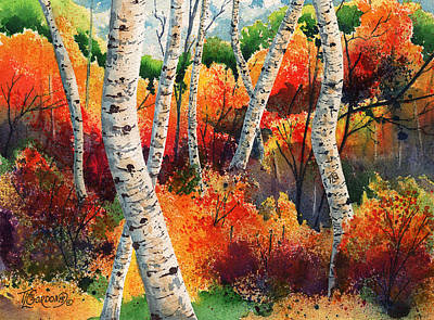 Tim Painting - Forest In Color by Timithy L Gordon