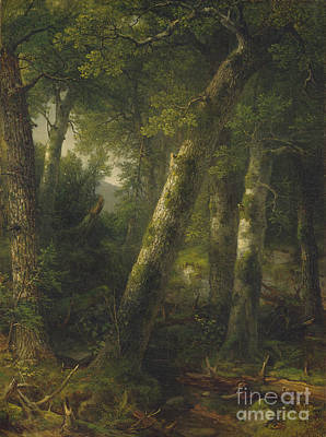 Morning Light Painting - Forest In The Morning Light by Asher Brown Durand