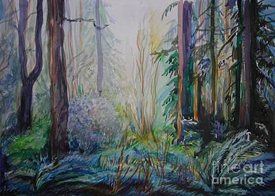Forest In The Spring Art Print by Anna  Duyunova