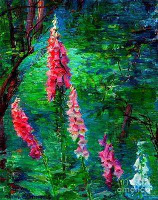 Painting - Forest Interior With Foxgloves 1920 by Peter Gumaer Ogden Collection