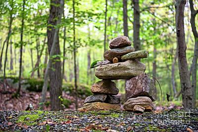 Photograph - Forest Inukshuk by Nina Stavlund