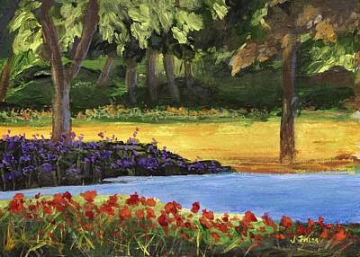 Painting - Forest Lake by Jamie Frier