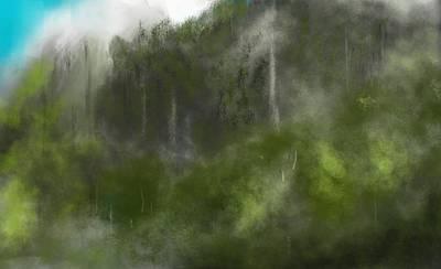 Forest Landscape 10-31-09 Art Print by David Lane