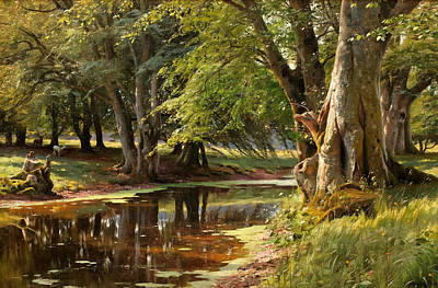 Painting - Forest Landscape by Peder Monsted