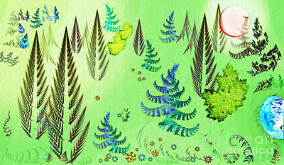 Digital Art - Forest Landscape by Sarah Loft