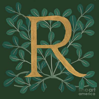 Digital Art - Forest Letter R by Donna Huntriss