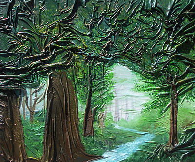 Mixed Media - Forest Light by Angela Stout
