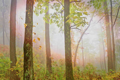 Photograph - Forest Light Painting by Debra and Dave Vanderlaan