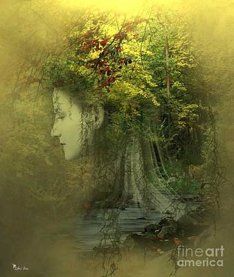Digital Art - Forest Lights by Ali Oppy