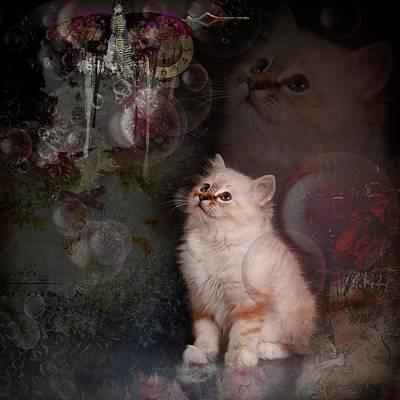 Cat Digital Art - Purple Forest  by Monique Hierck