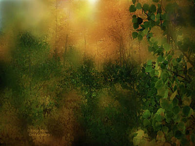 Forest Moods Art Print by Carol Cavalaris
