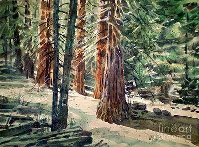 Forest Murmers Art Print by Donald Maier