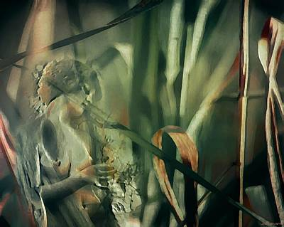 Collage Digital Art - Forest Nymph by Jo Sullivan