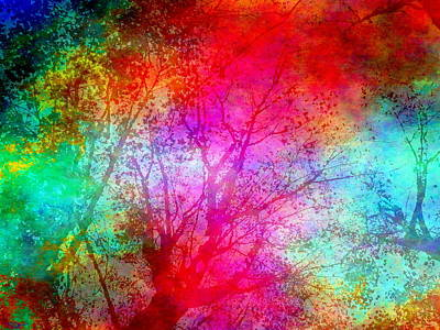 Inspiration Digital Art - Forest Of Dreams by Abstract Angel Artist Stephen K