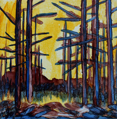 Painting - Forest On Fire by Joanne Smoley