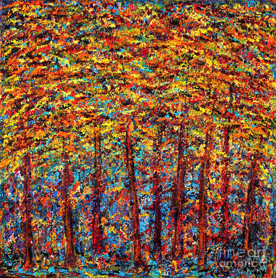 Forest On Fire Art Print by Melanie Dix