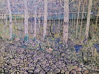 Autumn Scene Drawing - Autumn Forest  by Matthew John