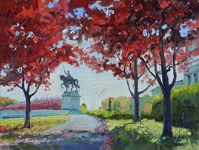St. Louis Painting - Forest Park Autumn Colors by Irek Szelag