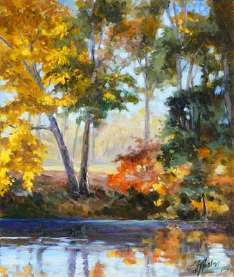 Painting - Forest Park - Autumn Reflections by Irek Szelag