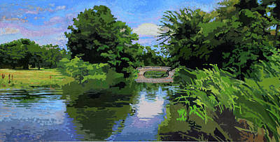 Painting - Forest Park Forever by John Lautermilch
