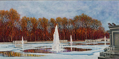 Painting - Forest Park Grand Basin by Michael Frank