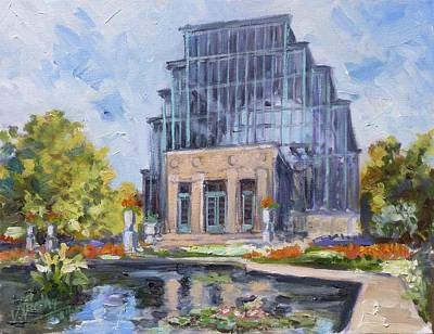 Saint Louis Painting - Forest Park - Jewel Box Saint Louis by Irek Szelag
