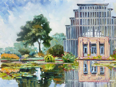 Summer Painting - Forest Park St.louis Jewel Box by Irek Szelag