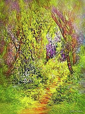 Digital Art - Forest Path Beckons by Joel Bruce Wallach