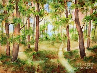 Painting - Forest Path by Inese Poga