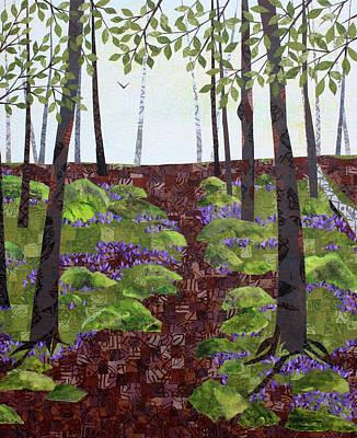 Mixed Media - Forest Path by Janyce Boynton