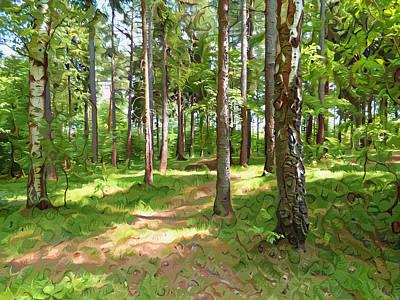 Pathway Digital Art - Forest Path by Miroslav Nemecek