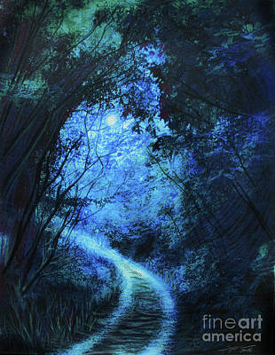 Digital Art - Forest Pathway by Gina Signore
